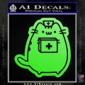 Pusheen Doctor Nurse D2 Decal Sticker Lime Green Vinyl 120x120