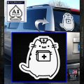 Pusheen Doctor Nurse D2 Decal Sticker White Vinyl Emblem 120x120