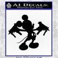 Rat DM Gun Decal Sticker Dual Uzis Black Vinyl Logo Emblem 120x120
