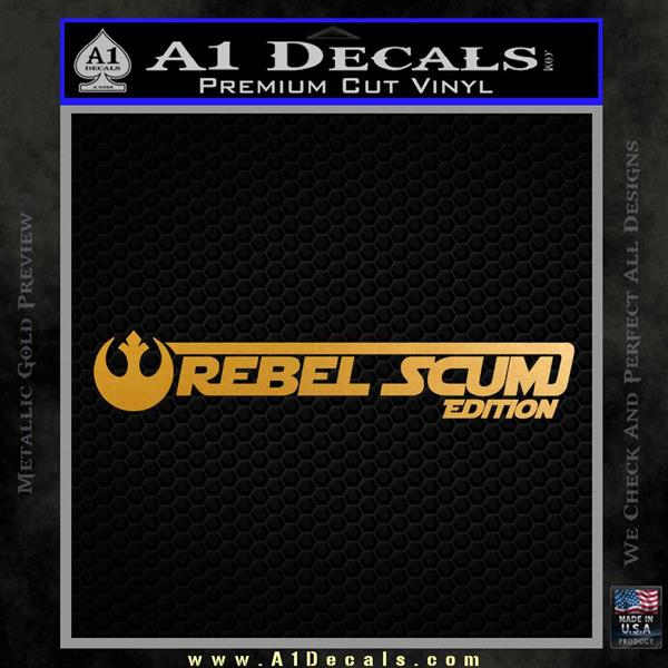 Rebel Scum Edition Decal Sticker Jeep Metallic Gold Vinyl