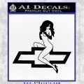 Sexy Chevy Bowtie Decal Sticker V1 rr Black Vinyl Logo Emblem 120x120