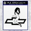 Sexy Chevy Bowtie Decal Sticker V1 rr Black Vinyl Logo Emblem 120x120