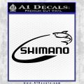 Shimano Decal Sticker Fishing Black Vinyl Logo Emblem 120x120