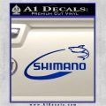 Shimano Decal Sticker Fishing Blue Vinyl 120x120
