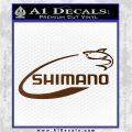 Shimano Decal Sticker Fishing Brown Vinyl 120x120
