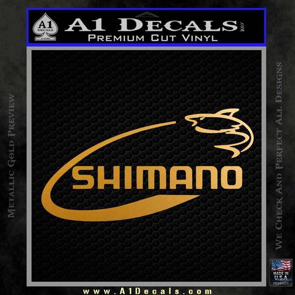 Shimano Decal Sticker Fishing Metallic Gold Vinyl