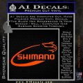Shimano Decal Sticker Fishing Orange Vinyl Emblem 120x120