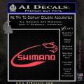 Shimano Decal Sticker Fishing Pink Vinyl Emblem 120x120
