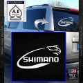 Shimano Decal Sticker Fishing White Vinyl Emblem 120x120