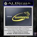 Shimano Decal Sticker Fishing Yellow Vinyl 120x120