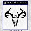 Skull Antlers Decal Sticker Bone Collector Black Vinyl Logo Emblem 120x120