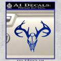 Skull Antlers Decal Sticker Bone Collector Blue Vinyl 120x120