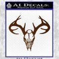 Skull Antlers Decal Sticker Bone Collector Brown Vinyl 120x120