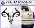 Skull Antlers Decal Sticker Bone Collector Carbon Fiber Black 120x97