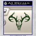 Skull Antlers Decal Sticker Bone Collector Dark Green Vinyl 120x120