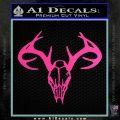 Skull Antlers Decal Sticker Bone Collector Hot Pink Vinyl 120x120