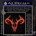 Skull Antlers Decal Sticker Bone Collector Orange Vinyl Emblem 120x120