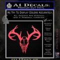 Skull Antlers Decal Sticker Bone Collector Pink Vinyl Emblem 120x120