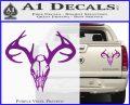 Skull Antlers Decal Sticker Bone Collector Purple Vinyl 120x97