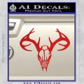 Skull Antlers Decal Sticker Bone Collector Red Vinyl 120x120
