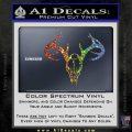 Skull Antlers Decal Sticker Bone Collector Sparkle Glitter Vinyl Sparkle Glitter 120x120