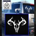 Skull Antlers Decal Sticker Bone Collector White Vinyl Emblem 120x120
