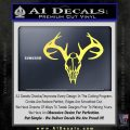 Skull Antlers Decal Sticker Bone Collector Yellow Vinyl 120x120