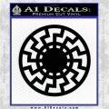 Sun Rune Decal Sticker Celtic Symbol D2 Black Vinyl Logo Emblem 120x120