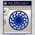 Sun Rune Decal Sticker Celtic Symbol D2 Blue Vinyl 120x120