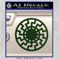 Sun Rune Decal Sticker Celtic Symbol D2 Dark Green Vinyl 120x120