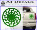 Sun Rune Decal Sticker Celtic Symbol D2 Green Vinyl 120x97