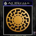 Sun Rune Decal Sticker Celtic Symbol D2 Metallic Gold Vinyl 120x120