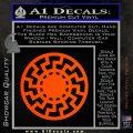 Sun Rune Decal Sticker Celtic Symbol D2 Orange Vinyl Emblem 120x120