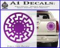 Sun Rune Decal Sticker Celtic Symbol D2 Purple Vinyl 120x97