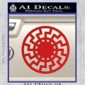 Sun Rune Decal Sticker Celtic Symbol D2 Red Vinyl 120x120