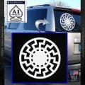 Sun Rune Decal Sticker Celtic Symbol D2 White Vinyl Emblem 120x120