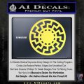 Sun Rune Decal Sticker Celtic Symbol D2 Yellow Vinyl 120x120