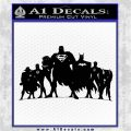 Superhero DJL Shadow Decal Sticker Black Vinyl Logo Emblem 120x120