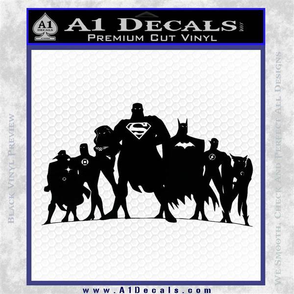 Superhero DJL Shadow Decal Sticker Black Vinyl Logo Emblem