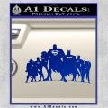 Superhero DJL Shadow Decal Sticker Blue Vinyl 120x120