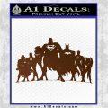 Superhero DJL Shadow Decal Sticker Brown Vinyl 120x120