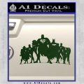 Superhero DJL Shadow Decal Sticker Dark Green Vinyl 120x120