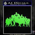Superhero DJL Shadow Decal Sticker Lime Green Vinyl 120x120