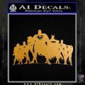 Superhero DJL Shadow Decal Sticker Metallic Gold Vinyl 120x120
