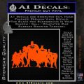 Superhero DJL Shadow Decal Sticker Orange Vinyl Emblem 120x120