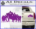 Superhero DJL Shadow Decal Sticker Purple Vinyl 120x97