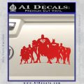 Superhero DJL Shadow Decal Sticker Red Vinyl 120x120