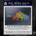 Superhero DJL Shadow Decal Sticker Sparkle Glitter Vinyl Sparkle Glitter 120x120