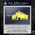 Superhero DJL Shadow Decal Sticker Yellow Vinyl 120x120