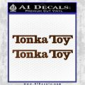 Tonka Toy Decal Sticker 2 Pack Brown Vinyl 120x120